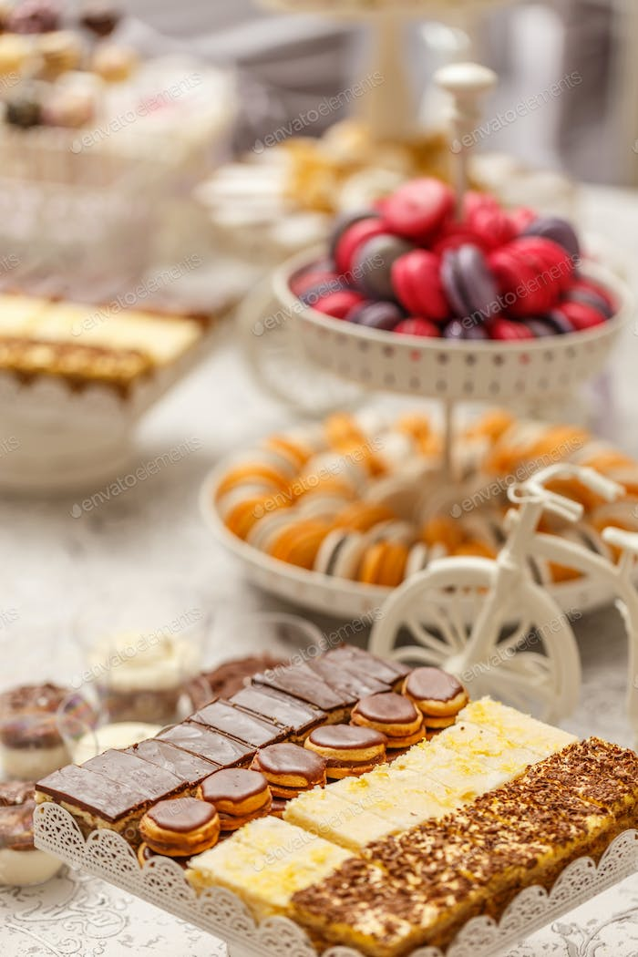 Delicious sweet buffet
