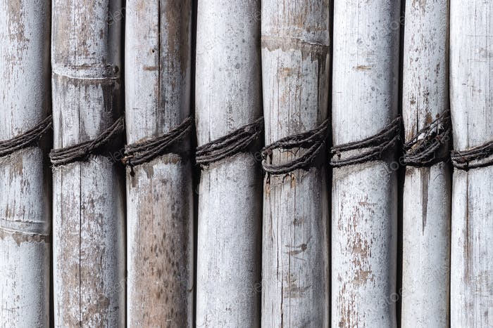 Old white bamboo texture background