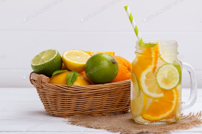 Orange infused water