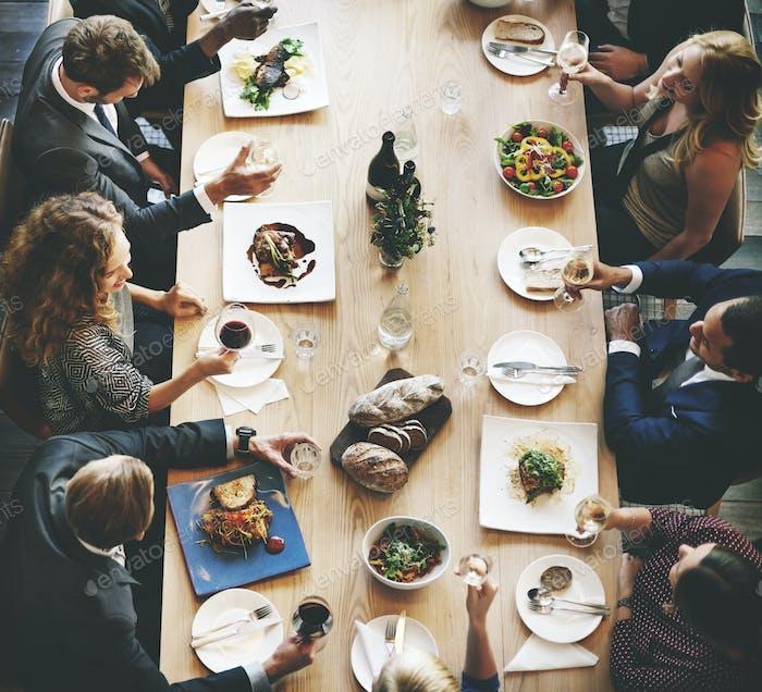 Business People Lunch Feier Gemeinsam Unternehmens- Concept