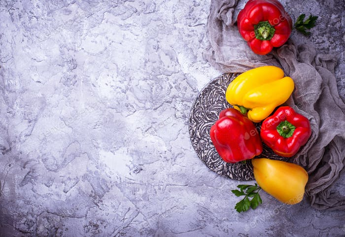 Fresh ripe  bulgarian pepper