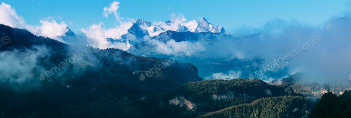 Amazing view of the Switzerland Alps