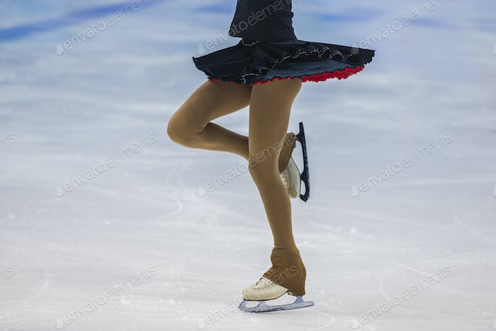 girl skater on ice sports arena