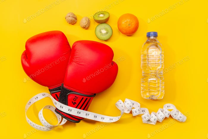Fitness, weight loss or exercise concept