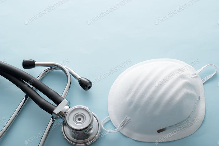 Surgical mask with stethoscope for Covid-19