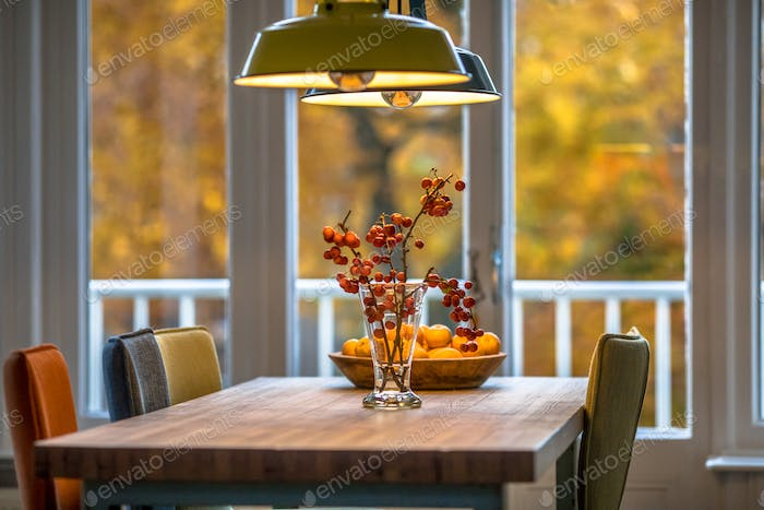Autumn interior still life scene