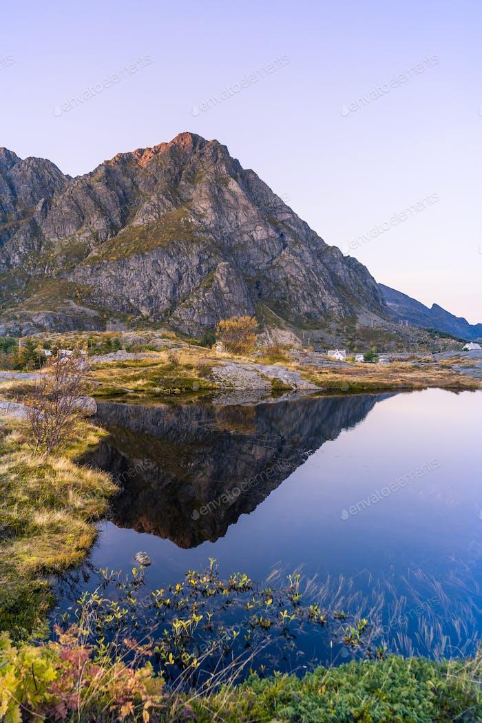 Eine Landschaft Lofoten Norwegen