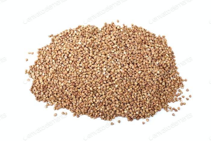Pile of buckwheat grains