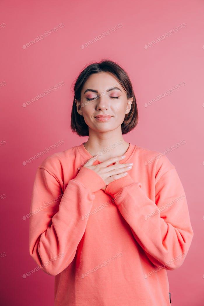 Woman wearing casual sweater