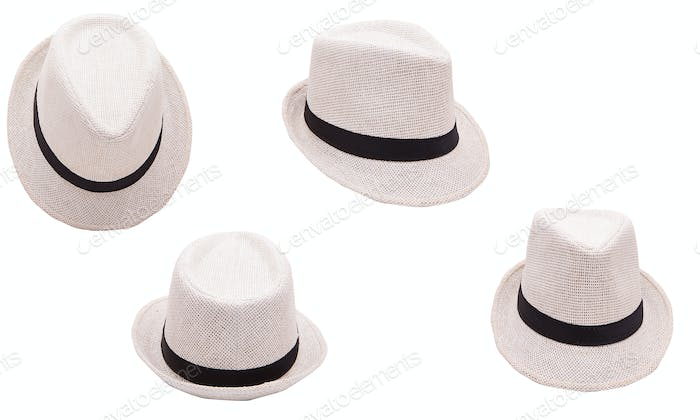 Beige hat on white background isolated