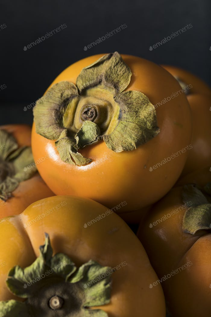 Raw Organic Yellow Persimmons