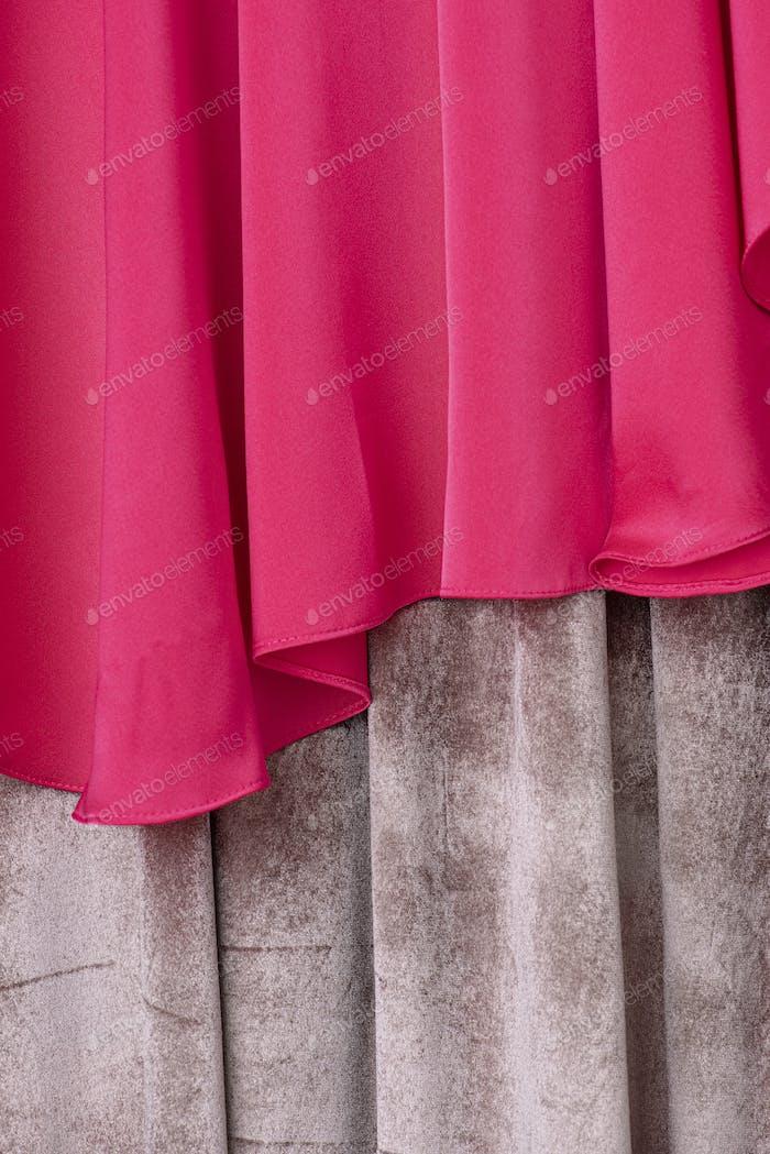 Shocking pink fabric