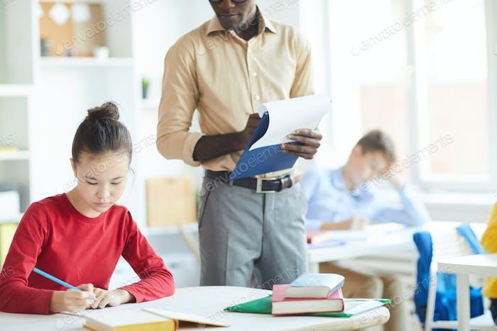Consulting schoolgirl