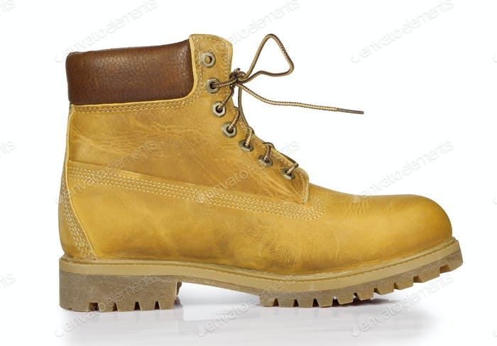 Yellow leather stylish shoes