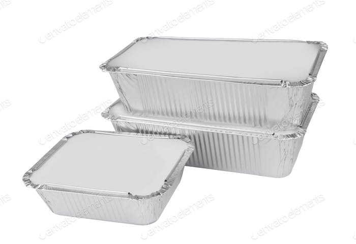 Foil tray for food