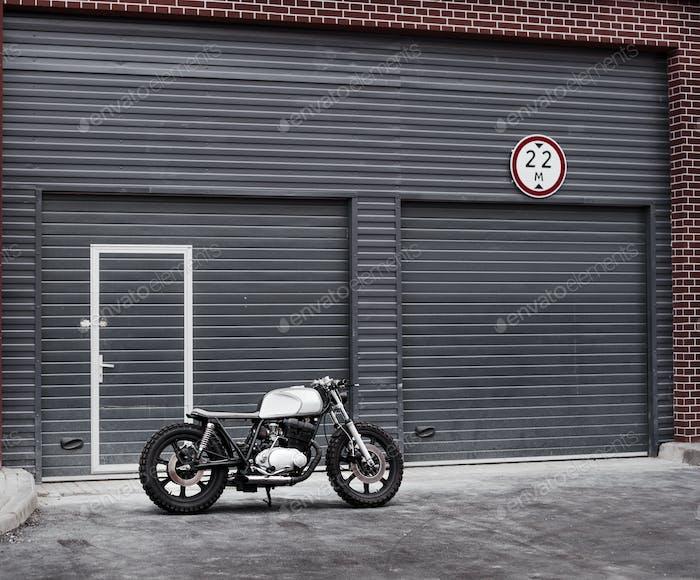 Vintage custom motorcycle motorbike caferacer
