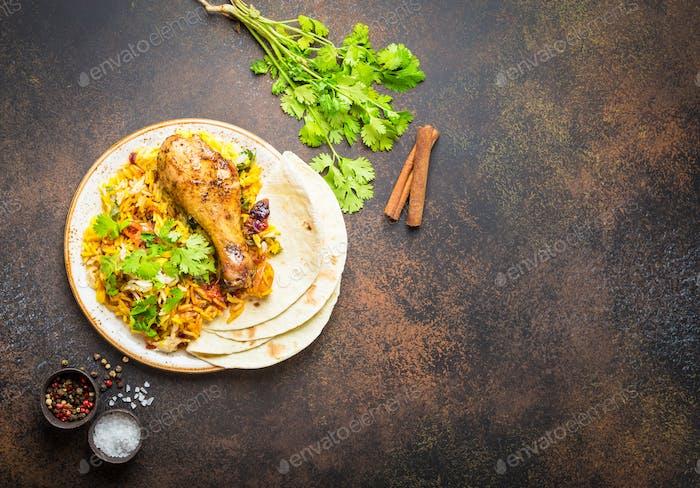 Biryani chicken dish