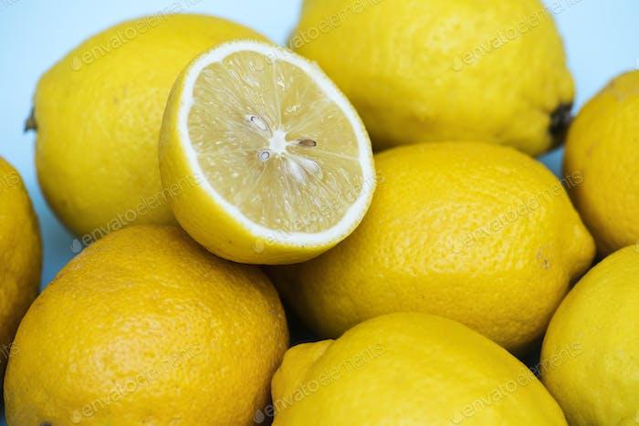 Closeup of fresh lemon