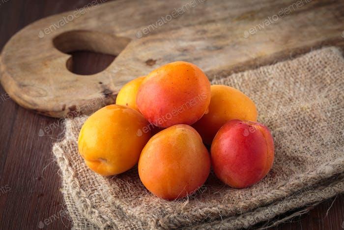 Fresh juicy golden plums