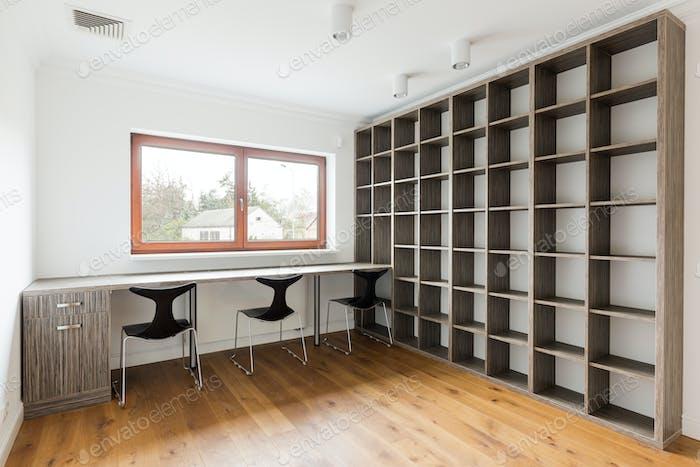 Minimalist empty office