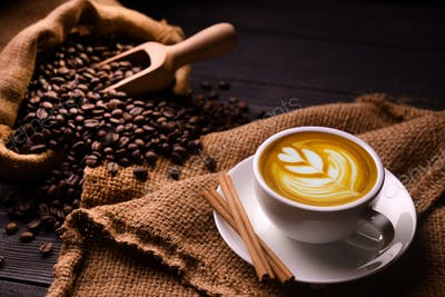 COFFEE CUP, COFFEE BEANS