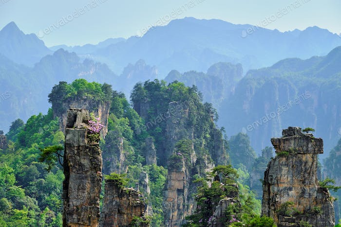 Zhangjiajie Berge, China