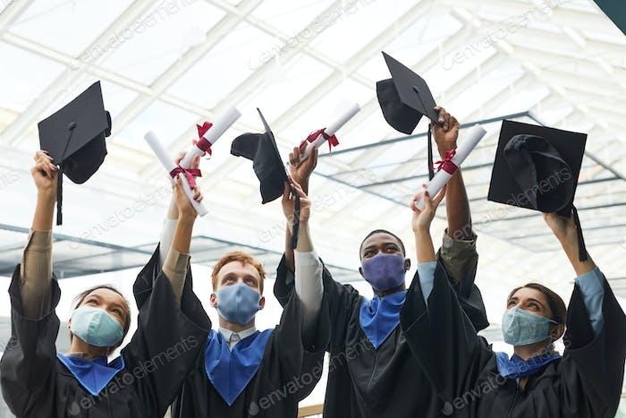 Graduation celebration in covid