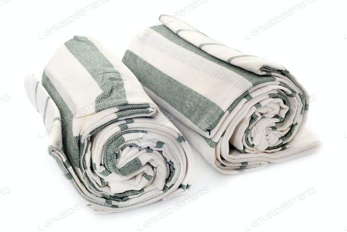 dish towel in studio