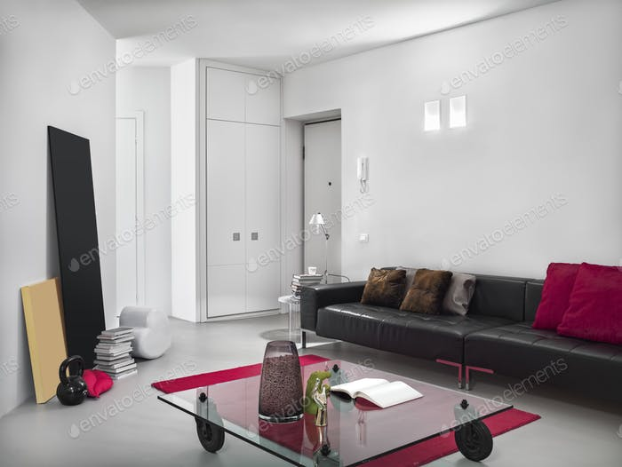 Interiors of a Modern Living Room in a Modern Apartment