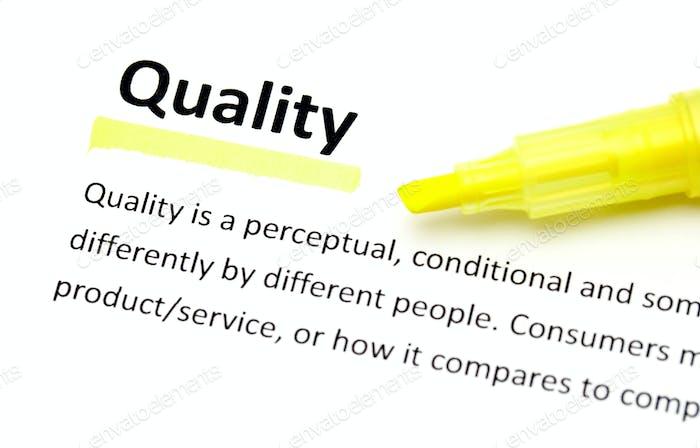 Definition der Qualität