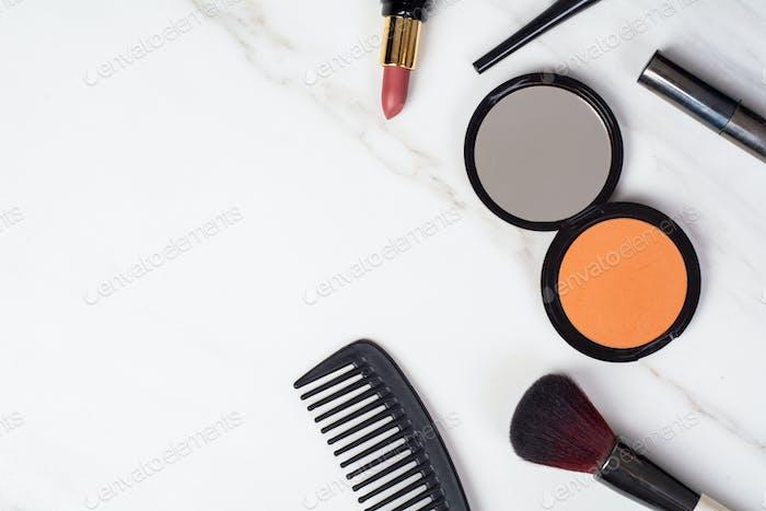 Make up cosmetics.