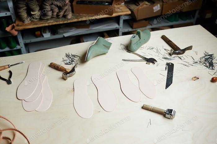 Arbeitsplatz des Schuhmachers