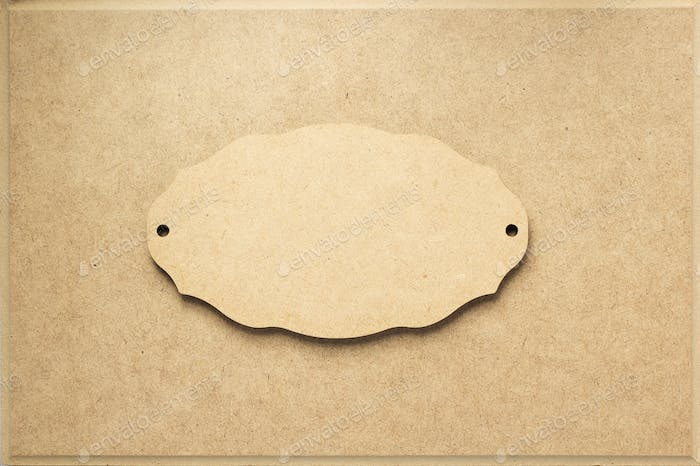 sign board at wooden background texture