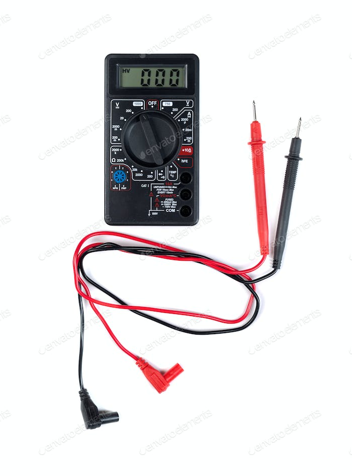 Multimeter isolate on white