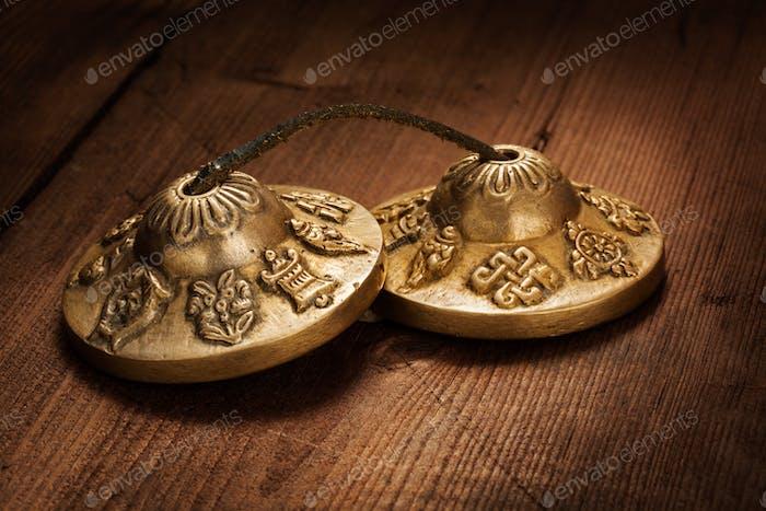 Tibetan Buddhist tingsha cymbals