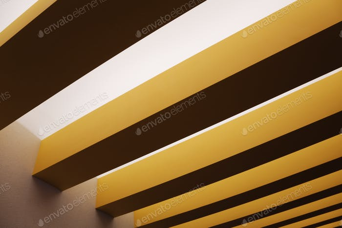 Yellow Ceiling Beams