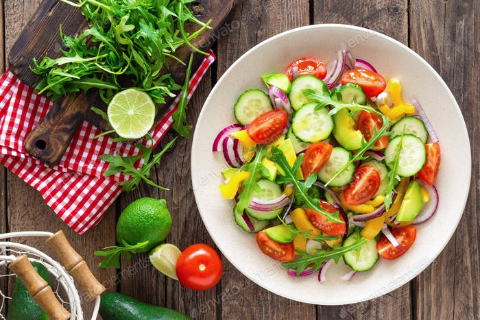 Healthy vegetarian dish, vegetable salad