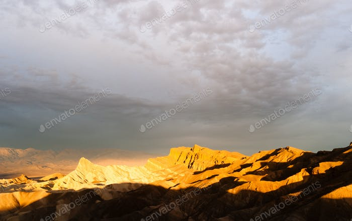 Rugged Badlands Amargosa Mountain Range Death Valley Zabriske Point