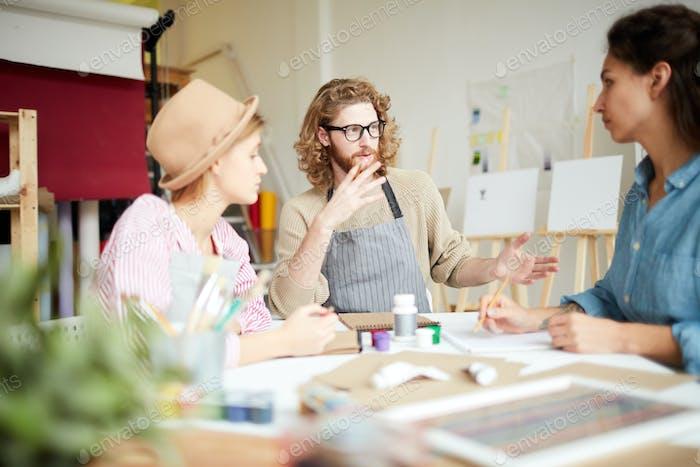 Groupmates brainstorming
