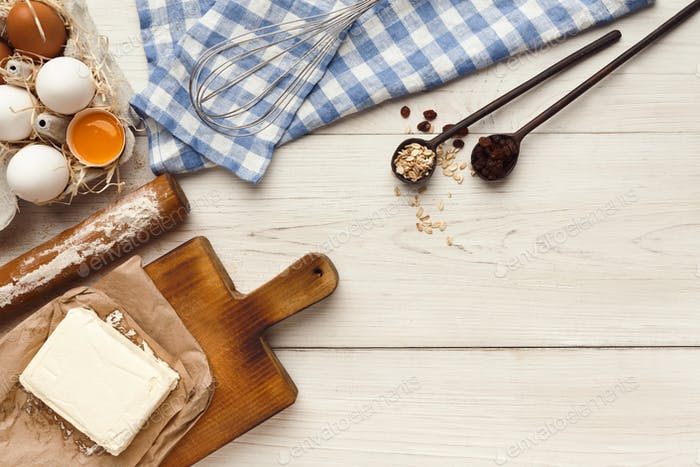 Baking classes or dough making background and mockup