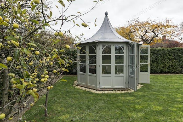 54984,Ornate gazebo in backyard