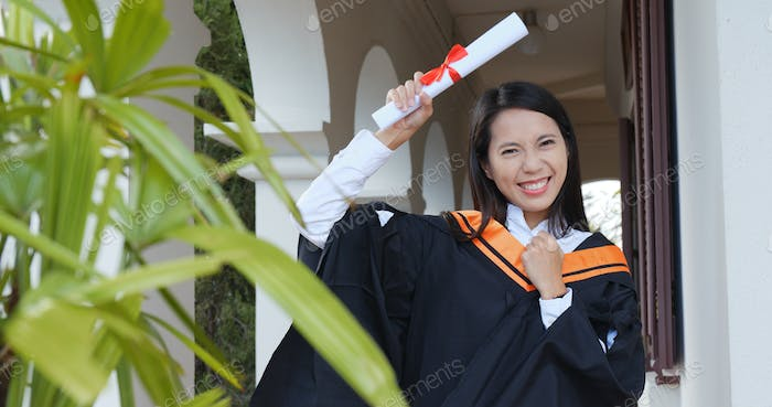 Happy young student graduation in university