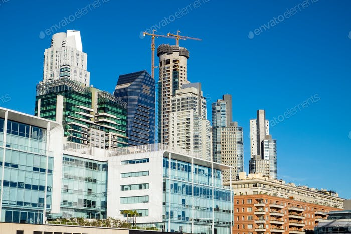 Skyscrapers seen in Puerto Madero, Buenos Aires