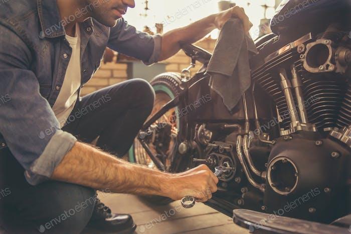 Motorbike repair shop