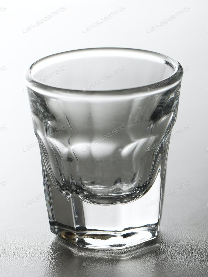 Shot glass for alcoholic drink