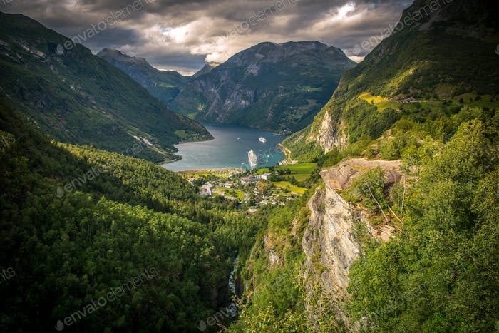 Famous Gejrangerfjord Norway