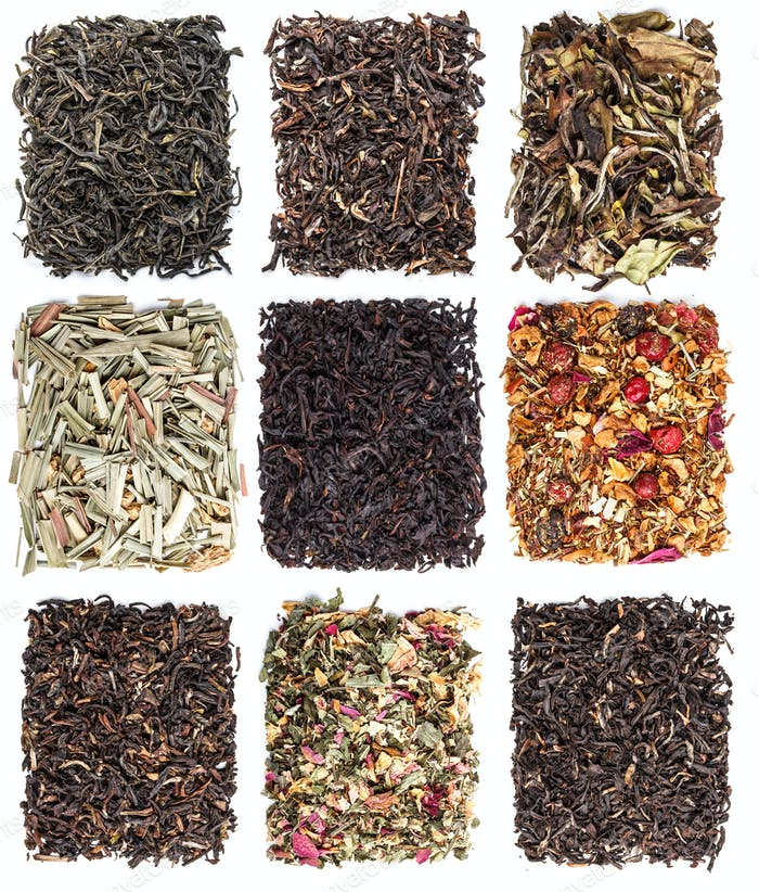 Tea leaves collection