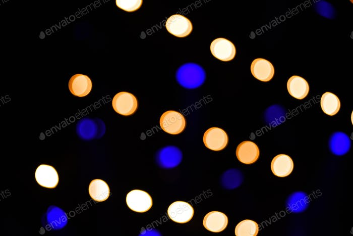 Bokeh led lights in a row at a concert
