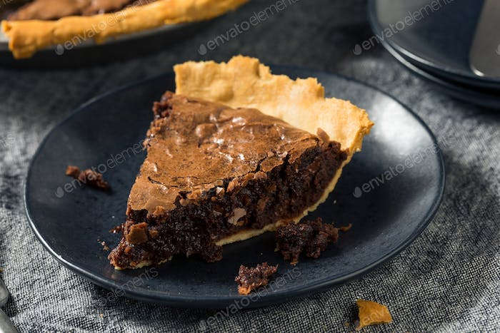 Homemade Chocolate Brownie PIe