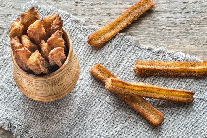 Churros - famous Spanish dessert